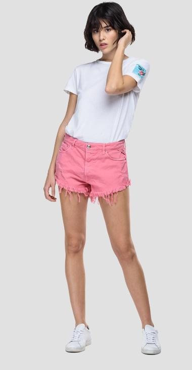 Shorts low crotch fit in denim ROSE LABEL - Replay WB425T_000_840535R_658_1