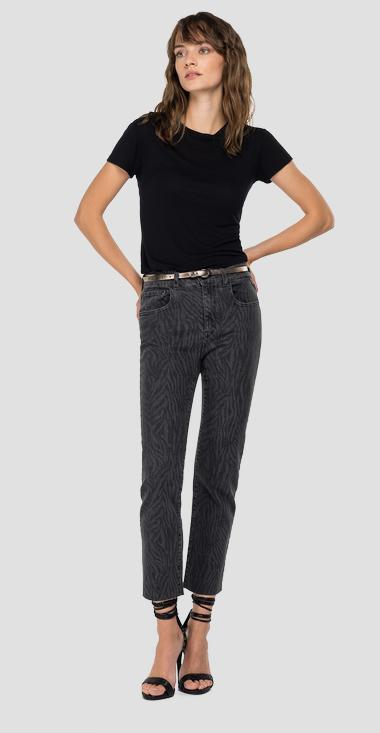 Slim fit cigarette crop Faaby jeans - Replay WB429_026_249-888_097_1
