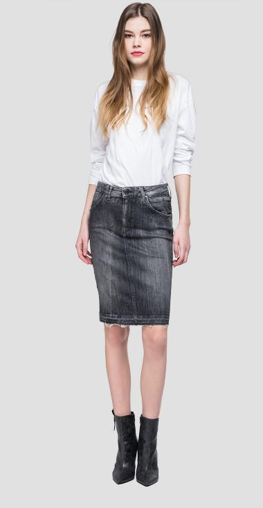 Midi denim skirt - Replay WB9210_000_199-526_097_1