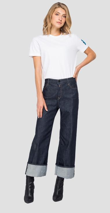 Cropped Jeans Basinkim Rose Label - Replay WCA628_000_17B-A07_007_1