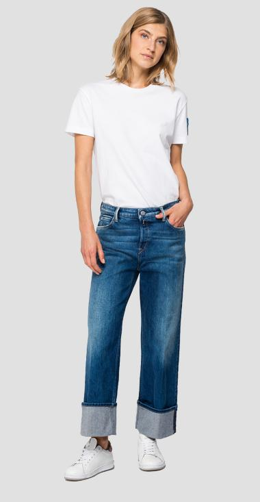 Cropped Basinkim Rose Label jeans - Replay WCA628_000_319714B_009_1