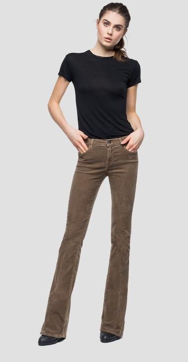 Flare fit Stella velvet trousers - Replay WCA684_000_8083195_557_1