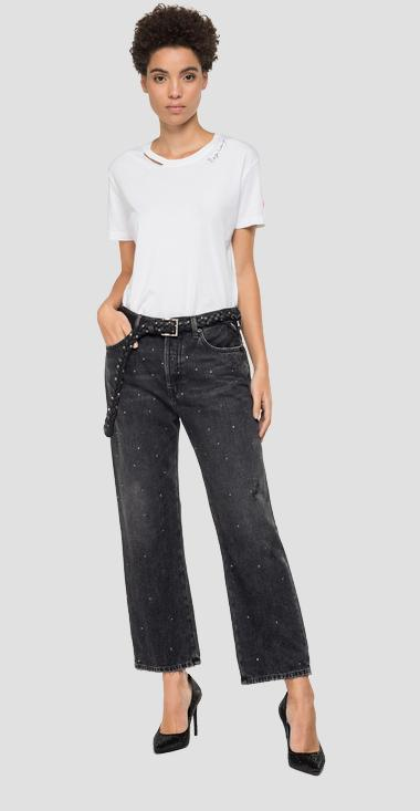 Crop Wide Fit Jeans Whitson - Replay WDC658_000_142S655_097_1