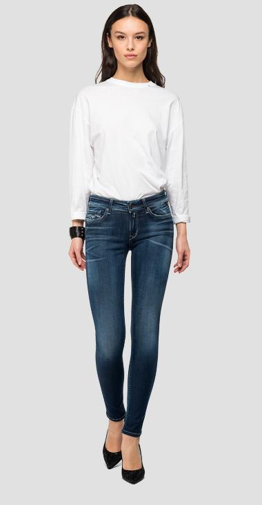 Skinny high waist fit Hyperflex Bio New Luz jeans - Replay WH689_000_661-A04_007_1