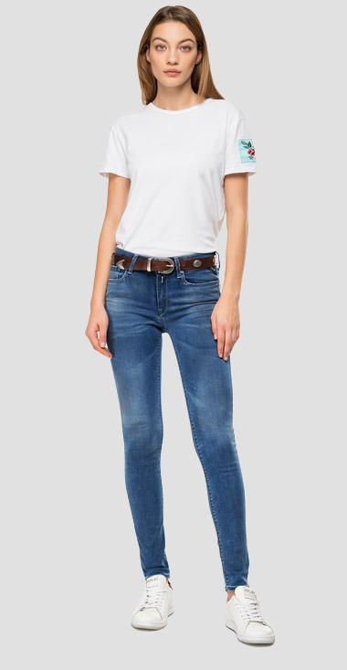 Skinny high waist fit Hyperflex Bio New Luz jeans - Replay WH689_000_661-A06_009_1