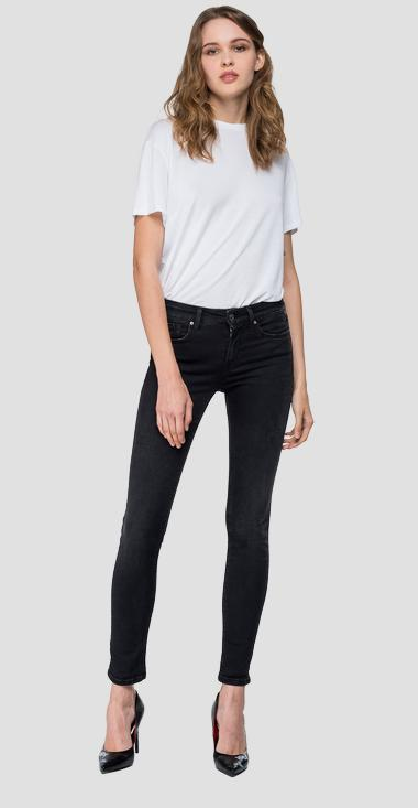 Skinny high waist fit Hyperflex New Luz jeans Clouds - Replay WH689_000_661-E01_098_1