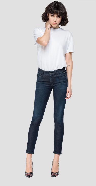 Skinny high waist fit Hyperflex New Luz jeans Clouds - Replay WH689_000_661-E03_007_1
