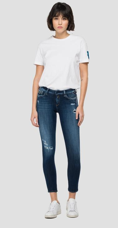Skinny Fit Jeans New Luz Hyperflex+ Broken and Repair - Replay WH689_000_661-S32_007_1
