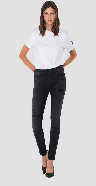 Skinny fit New Luz Hyperflex Plus Broken and Repair jeans - Replay WH689_000_661-S34_098_1