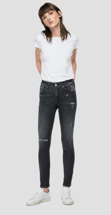 Skinny high waist fit Broken Edge Luzien jeans - Replay WHW689_000_249-907_097_1