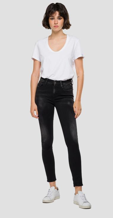 Skinny high waist fit Hyperflex Re-Used White Shades Luzien jeans - Replay WHW689_000_661-WB0_098_1