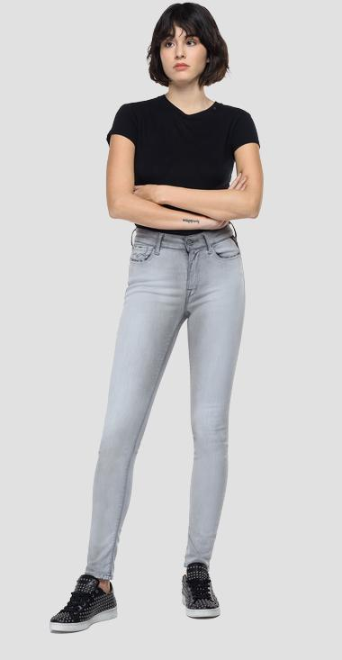 Skinny high waist fit Hyperflex Re-Used White Shades Luzien jeans - Replay WHW689_000_661-WB2_095_1