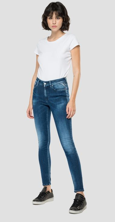 Skinny high waist fit Hyperflex Re-Used White Shades Luzien jeans - Replay WHW689_000_661-WI3_009_1