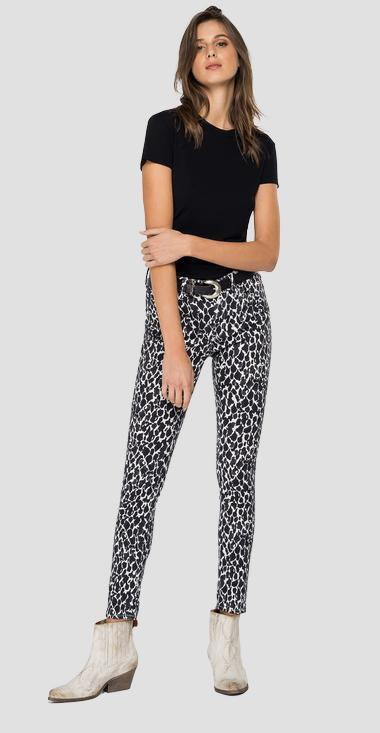 High Waist Skinny Fit Jeans Luzien ROSE LABEL - Replay WHW689_000_73405_010_1