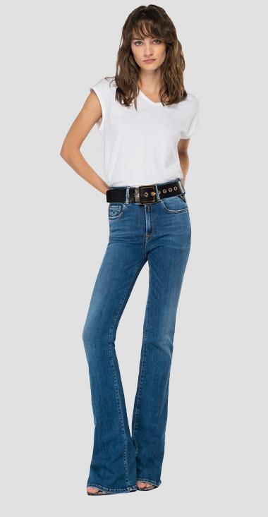 Flare high waist bootcut fit New Luz jeans - Replay WLW689_000_69D-817_009_1