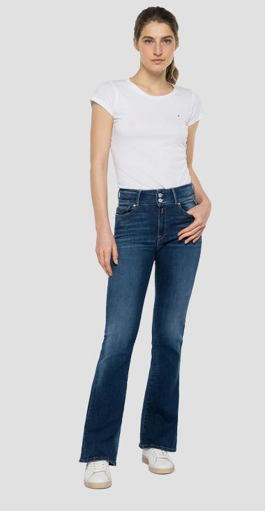 Jeans high waist flare and bootcut fit New Luz - Replay WLW689_000_69D-901_009_1