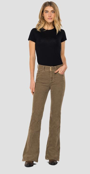 Flare fit New Luz velvet trousers - Replay WLW689_000_8083195_121_1