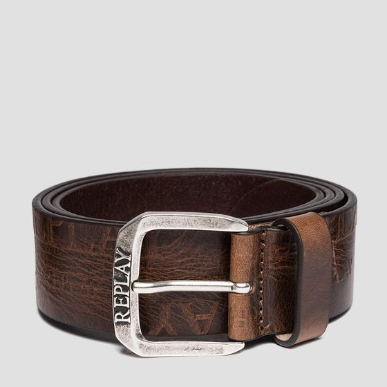 Belt in pull up leather am2529.000.a3007