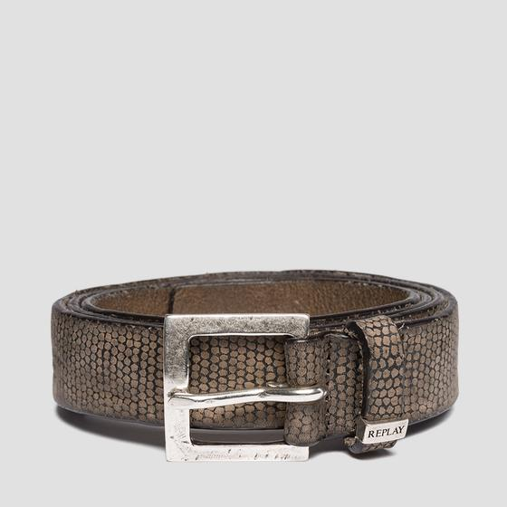 Belt with contrasting-coloured motif am2537.000.a3052