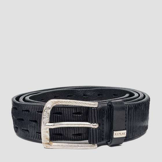 Velvet leather belt am2558.000.a3114