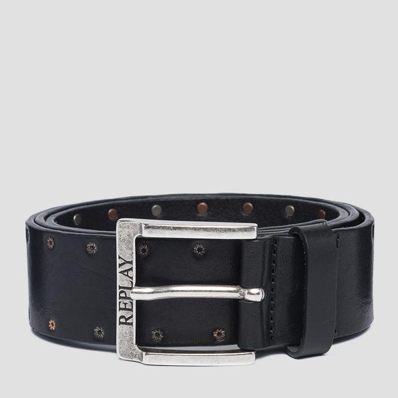 Pull up leather belt am2581.000.a3007