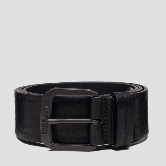 Leather belt with used effect am2588.000.a3077