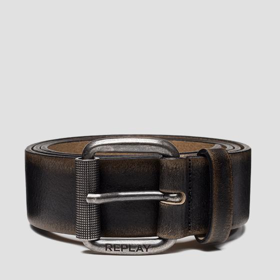Brushed leather belt am2599.000.a3184