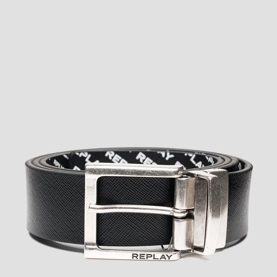 Reversible belt in leather am2608.000.a3189