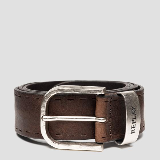 REPLAY belt in vintage leather am2610.000.a3077