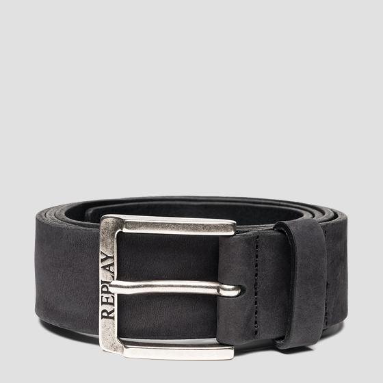 REPLAY belt in nubuck leather am2611.000.a3052