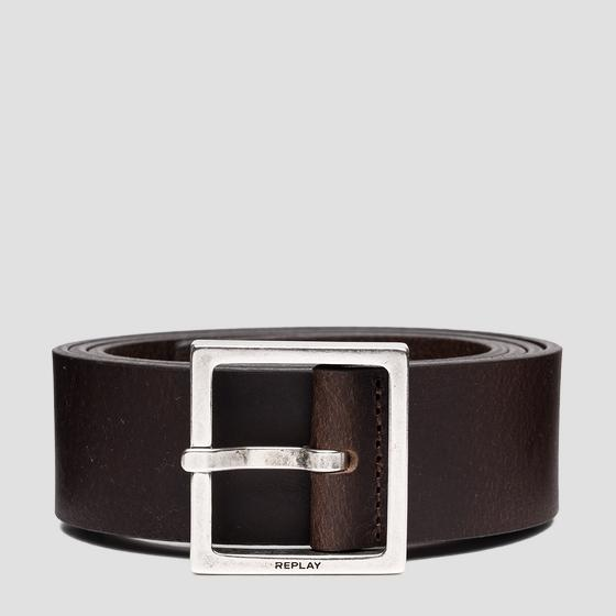 REPLAY smooth leather belt am2616.000.a3076