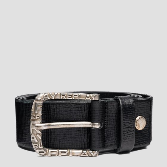 REPLAY belt in patterned leather am2622.000.a3007f