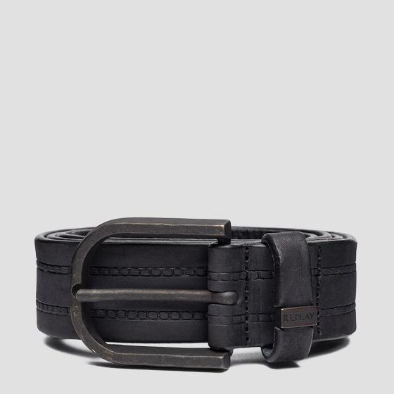 REPLAY belt in nubuck leather am2623.000.a3052