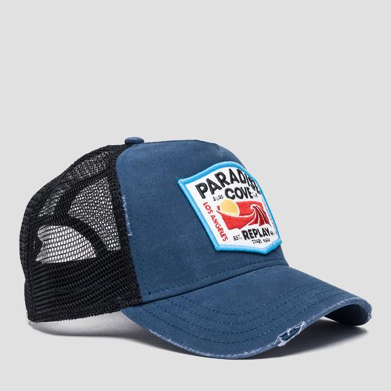 Cap with embroidered patch am4195.001.a0387