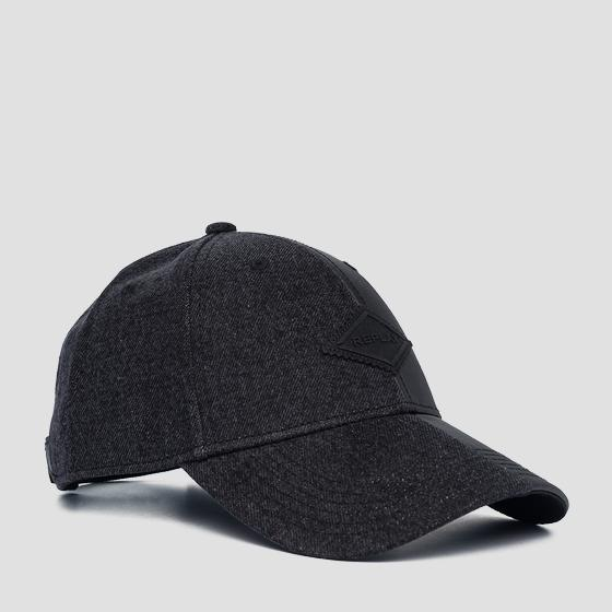 Denim and cotton cap am4229.000.a0113q