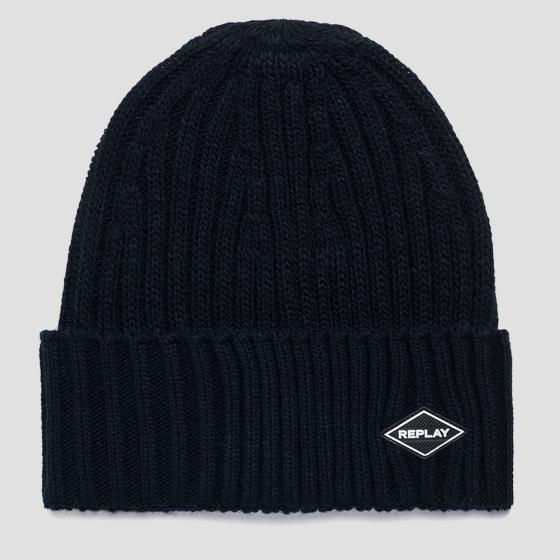 Ribbed REPLAY beanie am4237.000.a7003