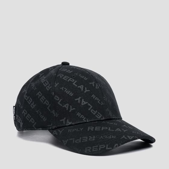 Cap with bill and all-over print am4239.000.a0113