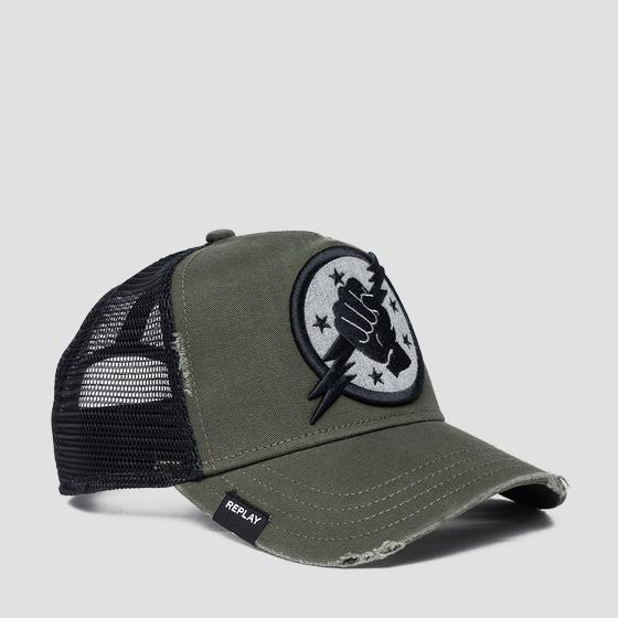 Two-tone cap with bill am4252.000.a0406a