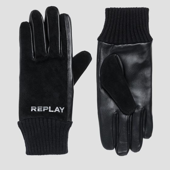 Suede and leather gloves am6048.000.a3175