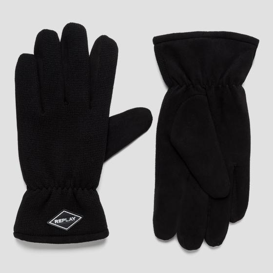 Gloves with suede effect am6051.000.a3066