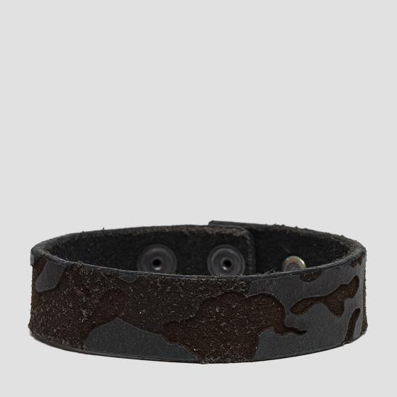 Bracelet in lasered leather am7040.000.a3001l