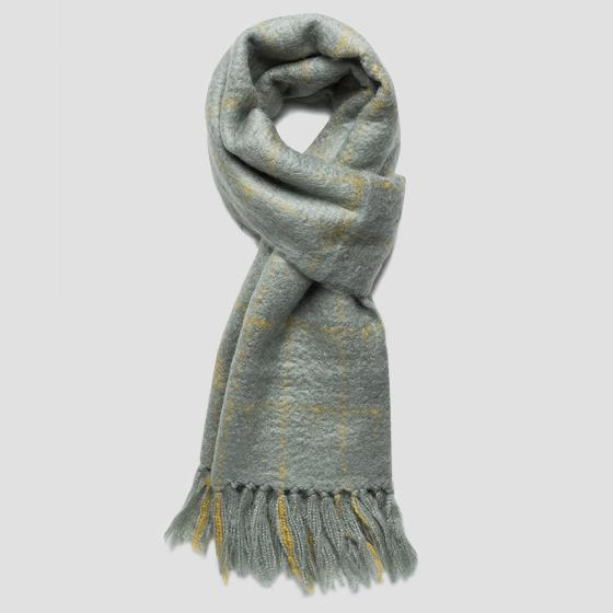 Checked scarf wool blend am9210.000.a0310