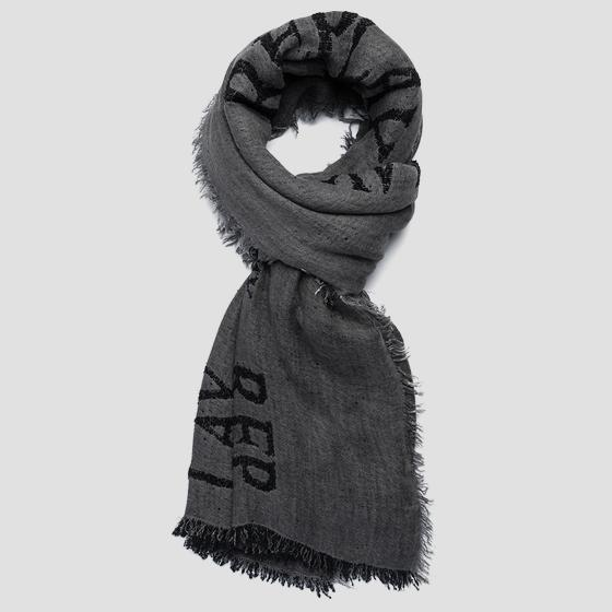 Scarf with REPLAY print am9223.000.a0317b