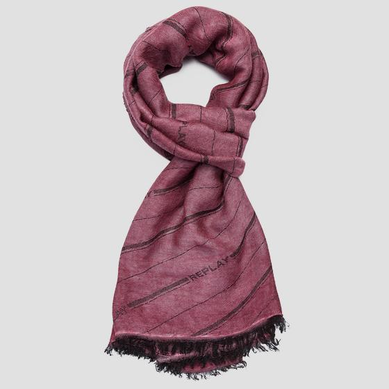 Striped REPLAY scarf am9224.000.a0383a