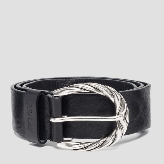 Belt with buckle with rounded edges aw2507.000.a3007