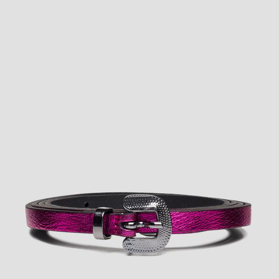 Thin leather belt aw2543.001.a3120c