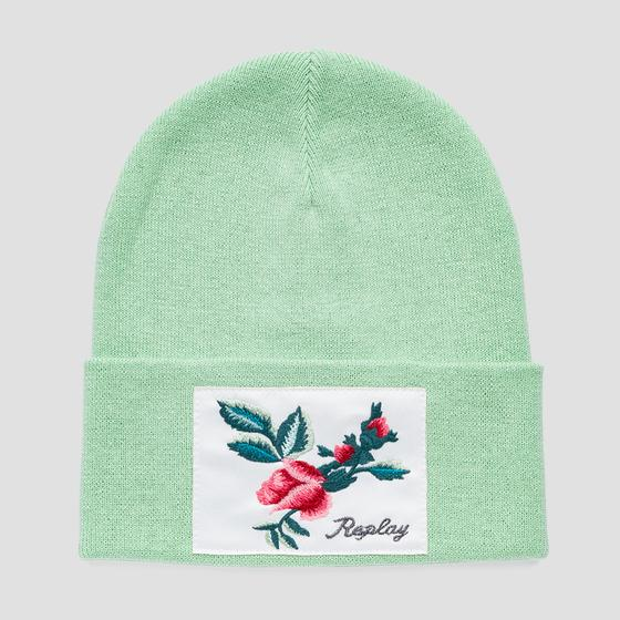 Knit cotton Replay beanie aw4229.000.a7059