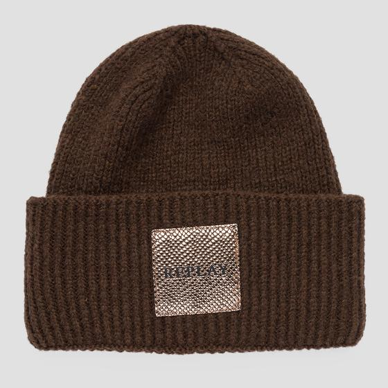 REPLAY beanie viscose and wool aw4245.000.a7092