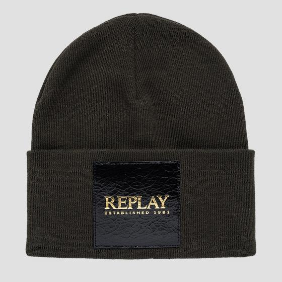REPLAY ESTABLISHED 1981 cotton beanie aw4252.000.a7059