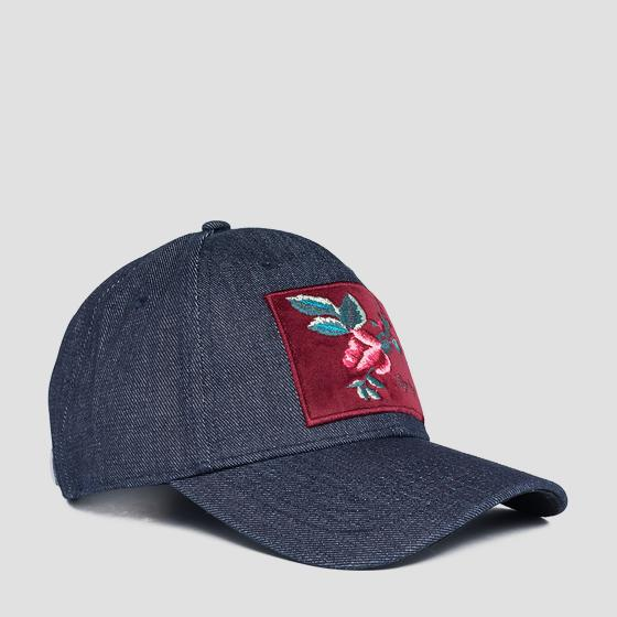 ROSE LABEL denim cap with bill aw4261.000.a0013